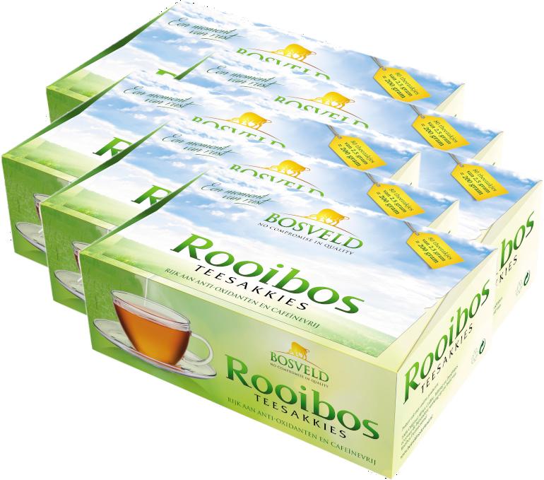 6x Bosveld Rooibos Teesakkies voordeelpak